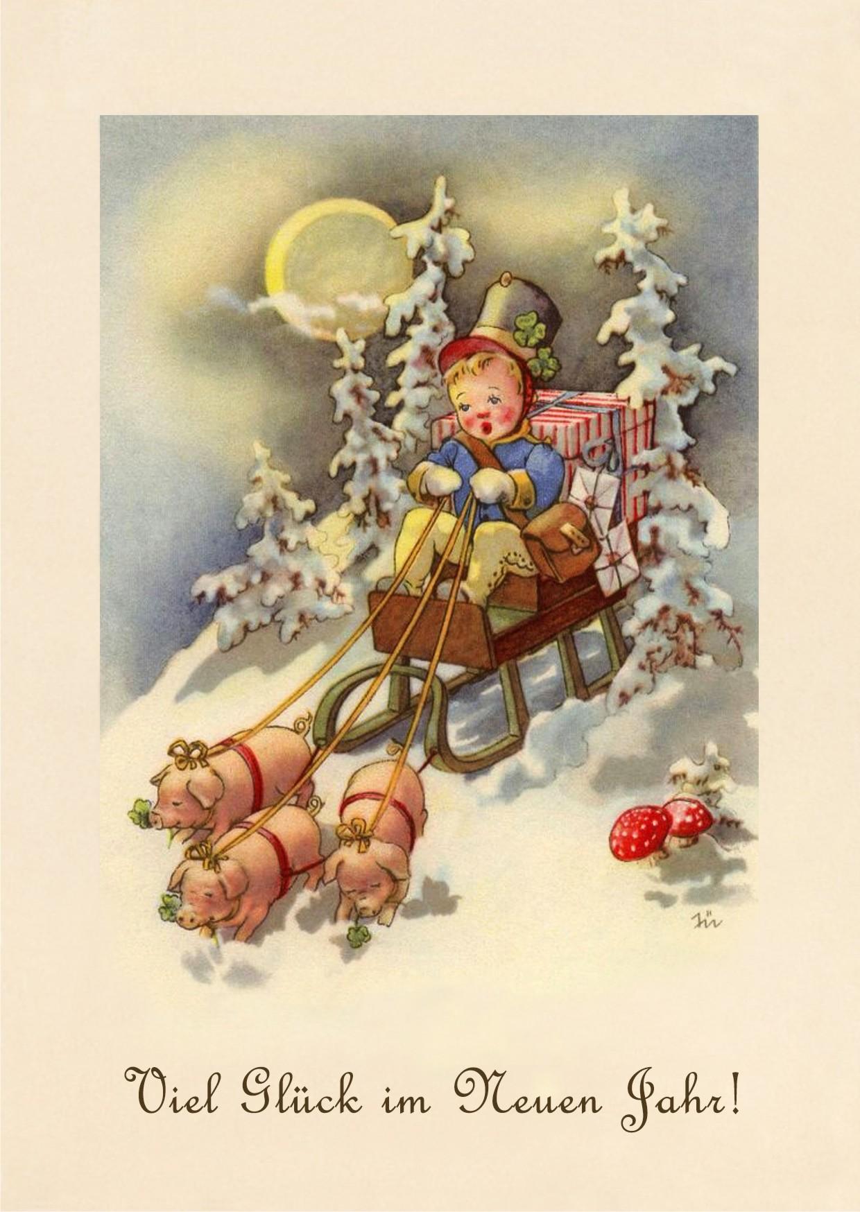 Новый год открытки по немецкий