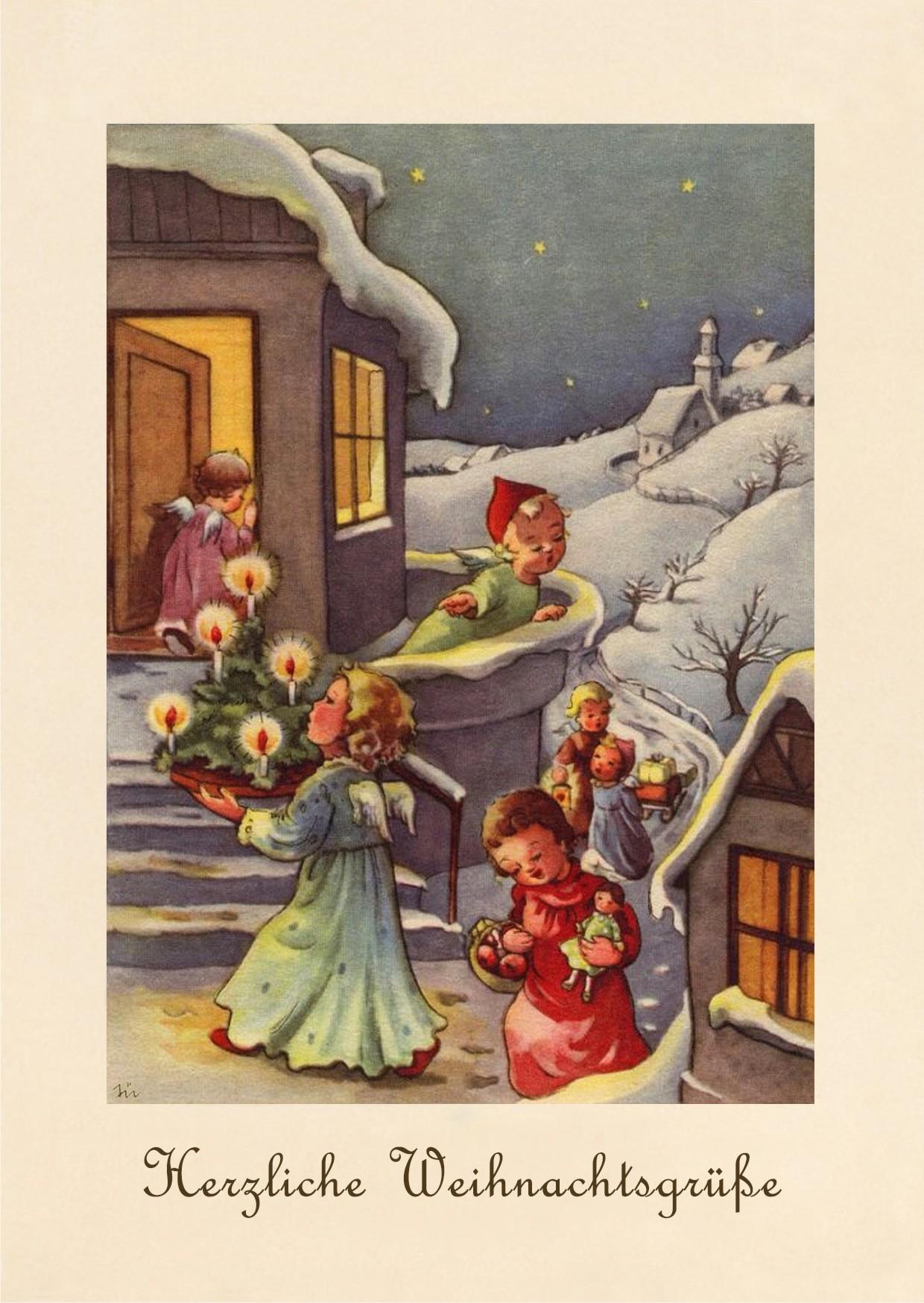 Открытки немецкие рождество, картинки