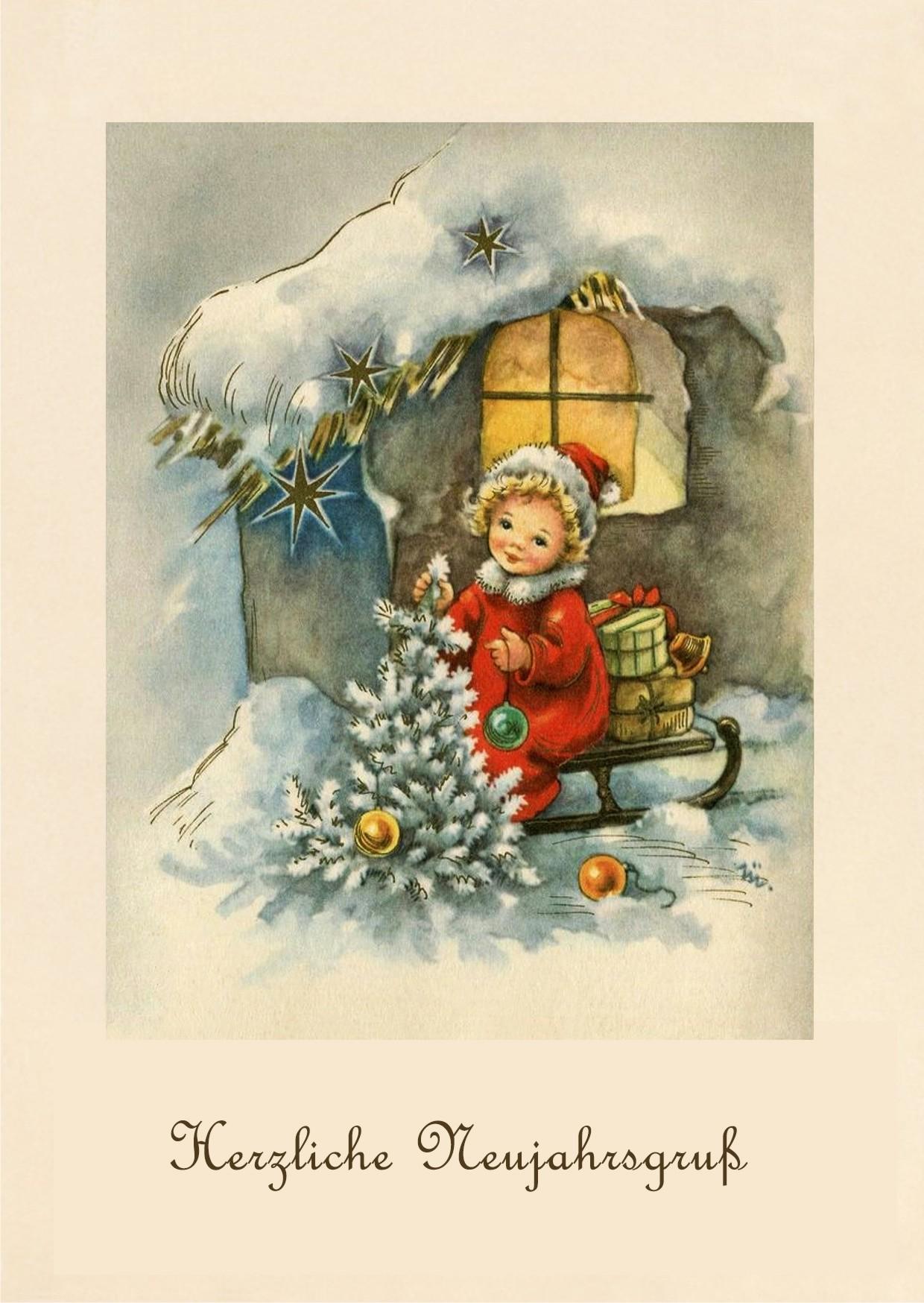 Смешные после, открытка новый год немецком