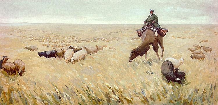Картинки степь казахстана зимой