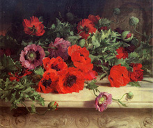 Маки (Poppies) :: William Jabez Muckley, 1870 год