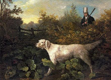 Английский сеттер (Sportsman With English Setter And Pheasant), Филипп Рейнегл